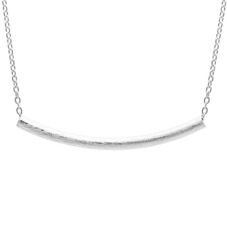 Round Silver Tube Necklace