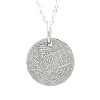 925 Personalised Silver Fingerprint Pendant