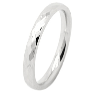 Faceted 2mm Stainless Steel Ring
