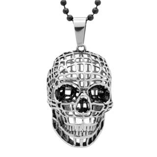 Stainless Steel 3D Skull Pendant