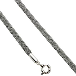 Grey Suede Necklace