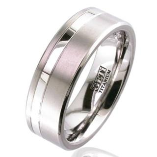 Platinum & Titanium Wedding Ring