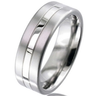 Palladium & Titanium Wedding Ring