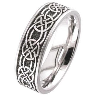 Titanium Celtic Knot Wedding Ring