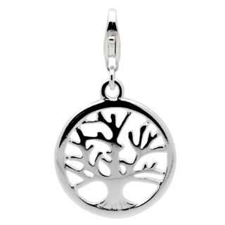 Silver Tree of Life Clip on Charm