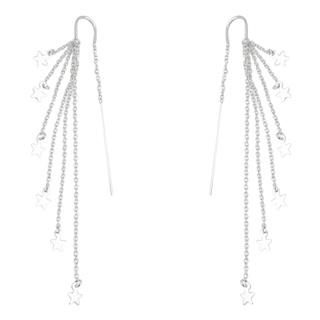 925 Silver Pull Through Star Earrings