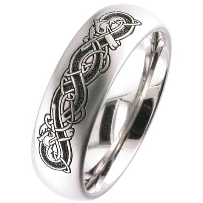 Titanium Celtic Wedding Ring Silver Titanium Rings Suay Design