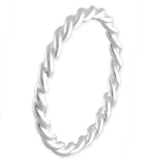 Silver Twist Stackable Ring