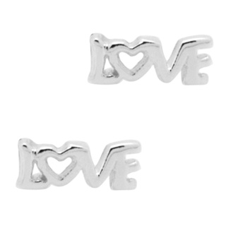 Silver Love Earrings