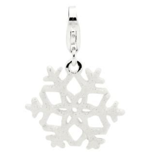 Sparkling Silver Snowflake Charm