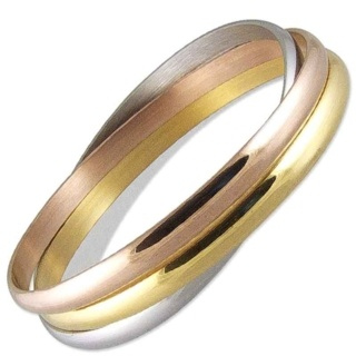 Martinique Tri Colour Steel Bangle