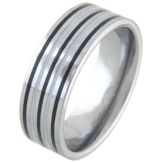 Integrate Mens Tungsten Ring