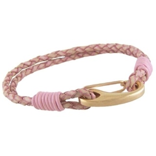 Orlando Antique Pink Leather Bracelet