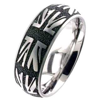 Union Jack Titanium Ring