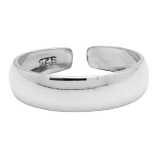 Polished 4mm Silver Toe Ring