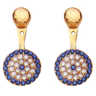 Ottoman Hands Crystal Swing Back Earrings