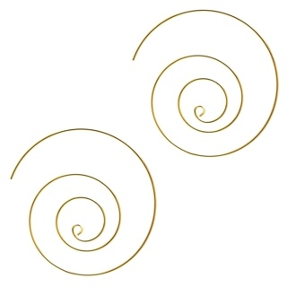Gold Plated Circular Spiral Earrings