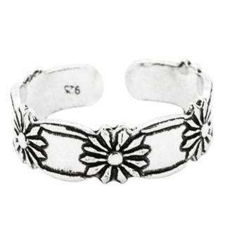 Silver Daisy Toe Ring
