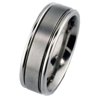 Two-tone Titanium Wedding Ring