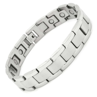 Two Tone Stainless Steel Magnetic Bracelet