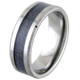 Leather Valour Tungsten Ring