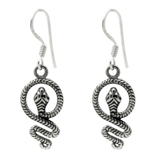 925 Silver Snake Drop Earrings