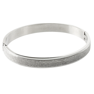 Stainless Steel Shimmering Bangle Medium