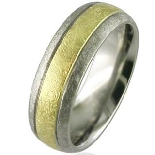 Gold & Titanium Wedding Ring