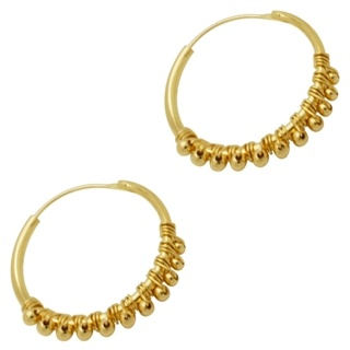 925 Silver Gold Plated Hoop Earrings