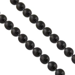 Beaded Black Stainless Steel Chain