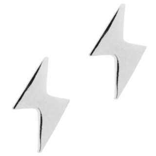 Stainless Steel Lightning Bolt Earrings