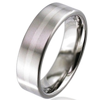 Palladium Titanium Wedding Ring