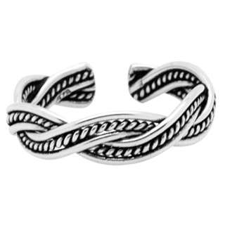 925 Silver Braided Rope Toe Ring