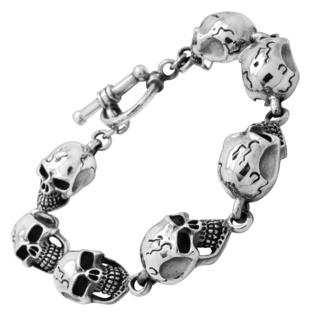 925 Sterling Silver Skull Bracelet