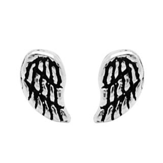 925 Silver Angel Wing Stud Earrings