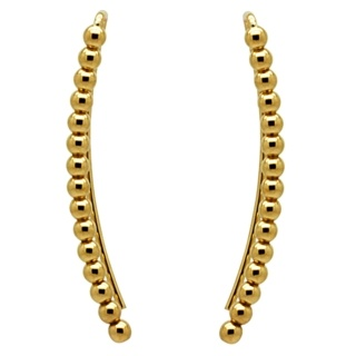Gold Plated Beaded Ear Crawlers