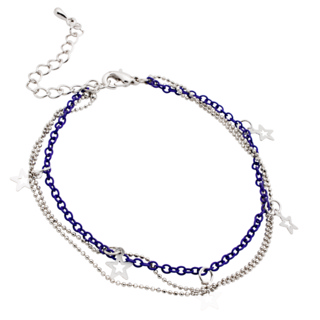 Silver & Purple Star Bracelet