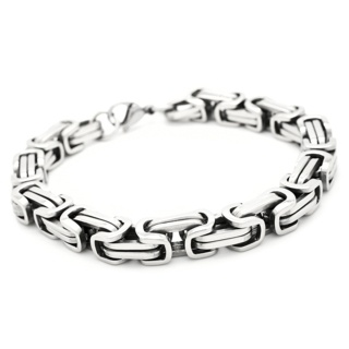Stainless Steel 8mm Byzantine Bracelet