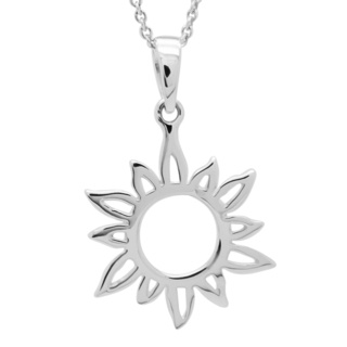 925 Silver Sun Necklace