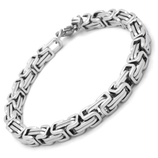 Stainless Steel 6mm Byzantine Bracelet