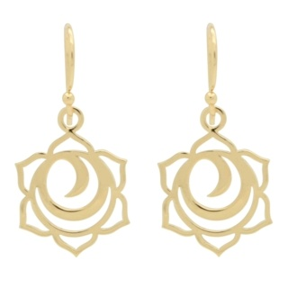 925 Silver Gold Plated Sacral Chakra Earrings