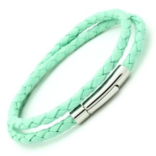 Mint Green Bolo Leather Double Wrap Bracelet