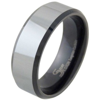 Shift Mens Tungsten Ring