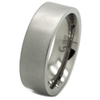Cross Brushed 8mm Titanium Ring