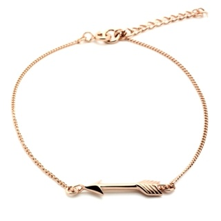 Rose Gold Plated Silver Arrow Bracelet