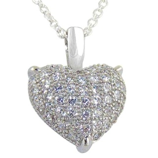 Innocence Pave Crystal Silver Pendant