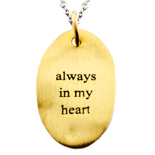 Always in my Heart Gold & Silver Charm Necklace
