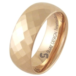 Divine Rose Tungsten Ring