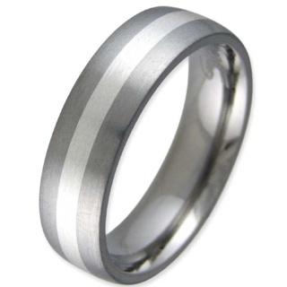 Entice Satin Titanium Ring