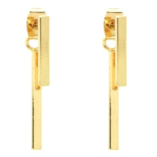 Gold T Bar Ear Jackets